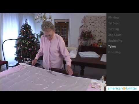 How to Tie Quilt for Beginners - with Elaine Lockett