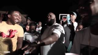 Rick Ross, Dj Khaled, Meek Mill & French Montana bet $120K on 5 basketball shots