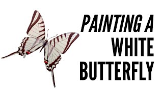 How To Paint A Butterfly With Inktense In White