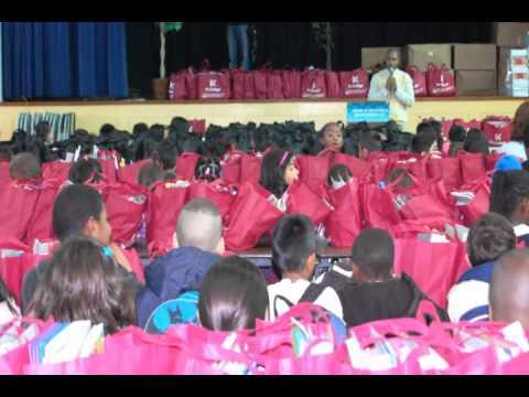 Nystrom Elementary School Supply Distribution