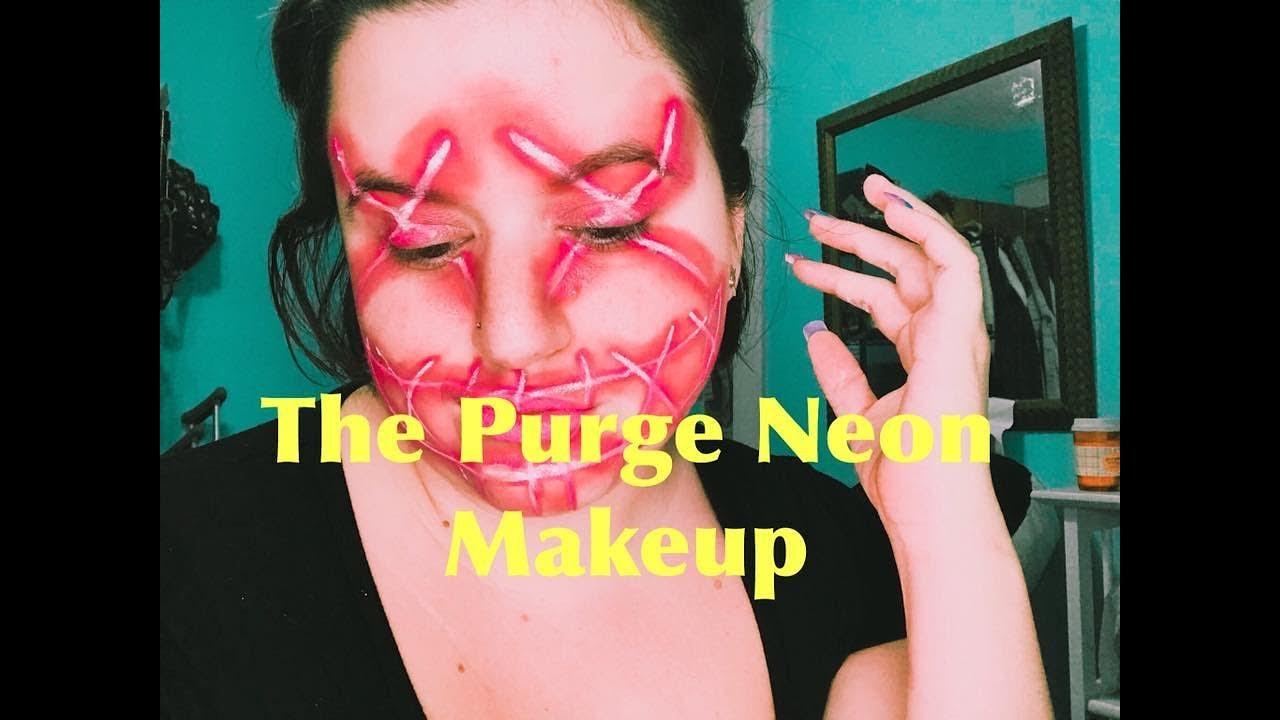 The Purge Pink Neon Makeup