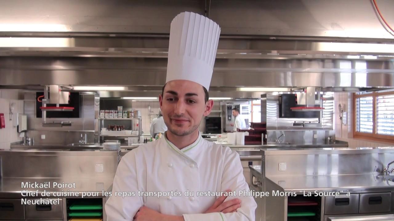 Interview de Mickaël Poirot, Chef d'Eldora SA pour les repas transportés du restaurant « La Source »