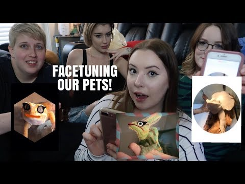 FACETUNING OUR ANIMALS! W/ Taylor Nicole Dean, Pickles Pets and Emilee Rose