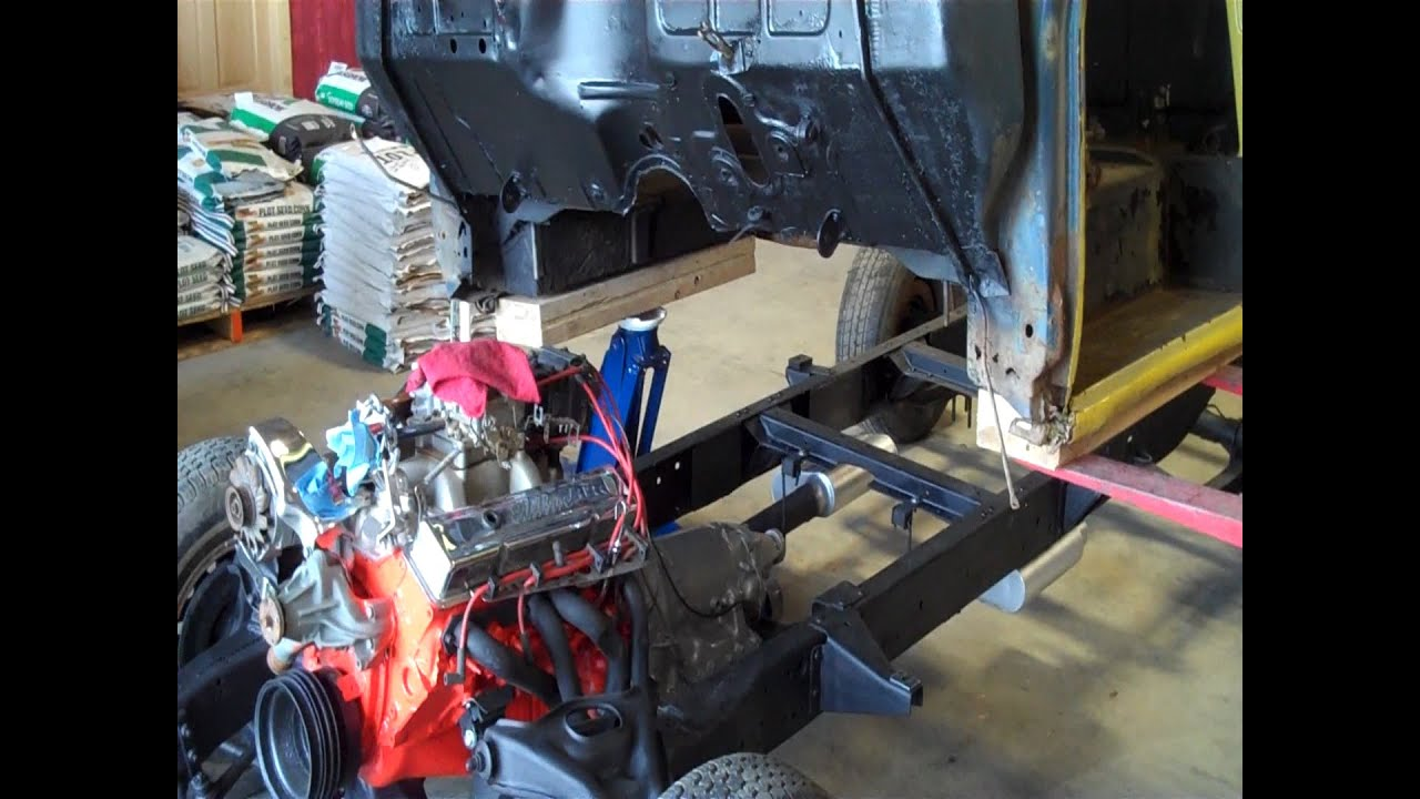 1955 59 Chevy Truck Frame Swap 1949 Update 15 Mounting The Cab Onto 55 You