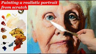 All you should know about painting portraits in oils - skin tones, tonal values & construction.