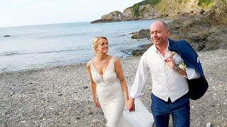 LAWRENCE AND CLAIRE AT SANDY COVE HOTEL, BERRYNARBOR, DEVON