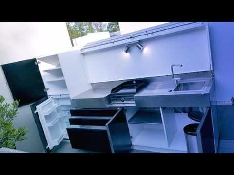 cuisine ext rieure d 39 t by atlantic inox youtube. Black Bedroom Furniture Sets. Home Design Ideas