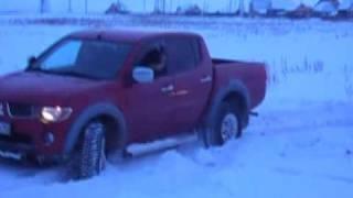 Тест Драйв Mitsubishi L200 Triton test drive offroad snow nokian