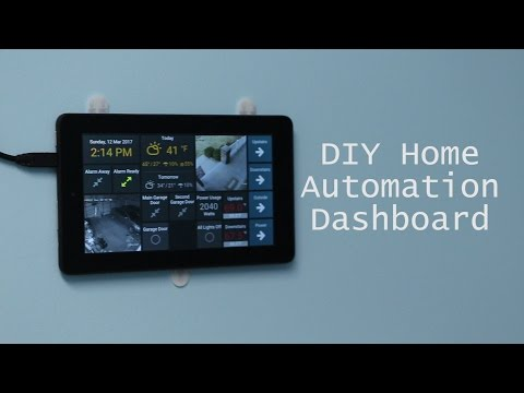 DIY Wall-Mounted Tablet Dashboard for OpenHAB using Dashing and TabletFrame