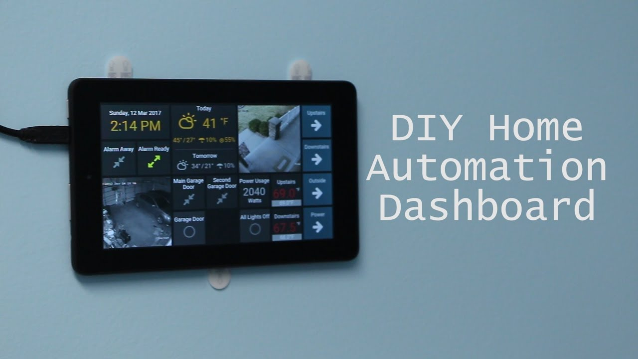 DIY Wall Mounted Tablet Dashboard For OpenHAB Using Dashing And TabletFrame
