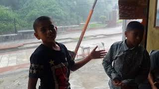 kids fighting in windy Rain ( Real Fight )