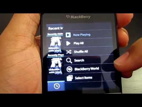 Media apps on Blackberry Q10