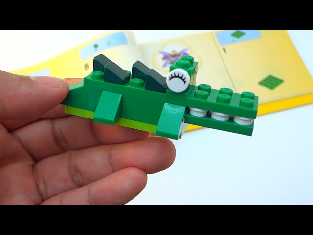 Step-by-step: How to build a Lego Crocodile - Lego Classic 10696 (2015)