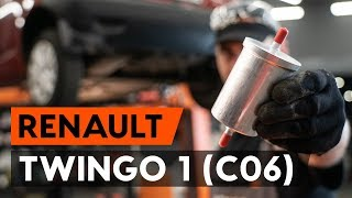 Hvordan udskiftes drivstoffilter on RENAULT TWINGO 1 (C06) [UNDERVISNINGSLEKTIONER AUTODOC]