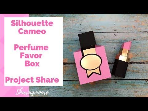 Silhouette Cameo Perfume Bottle Shaped Box ~ May 2019 {Sharingmoore}