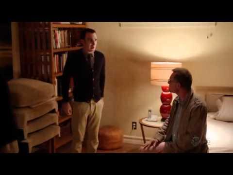 Hank walks in on Bates getting blown