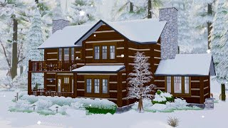 I built a wintery cabin in The Sims 4