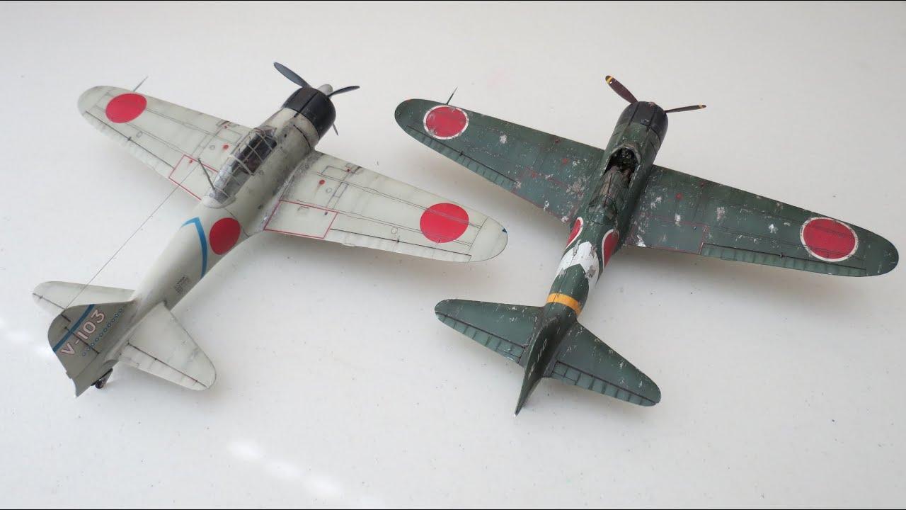 "Tamiya 1/48 Mitsubishi A6M2 Zero (Zeke) ""Final Reveal"" (6.11.15) - YouTube"
