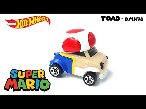 Hot Wheels 2016 - Super Mario - TOAD DMH78 - Video Still Life Toy Review