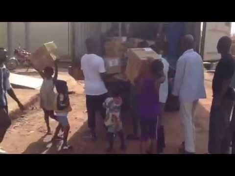 Hands of Hope NW Sierra Leone shipment unloaded