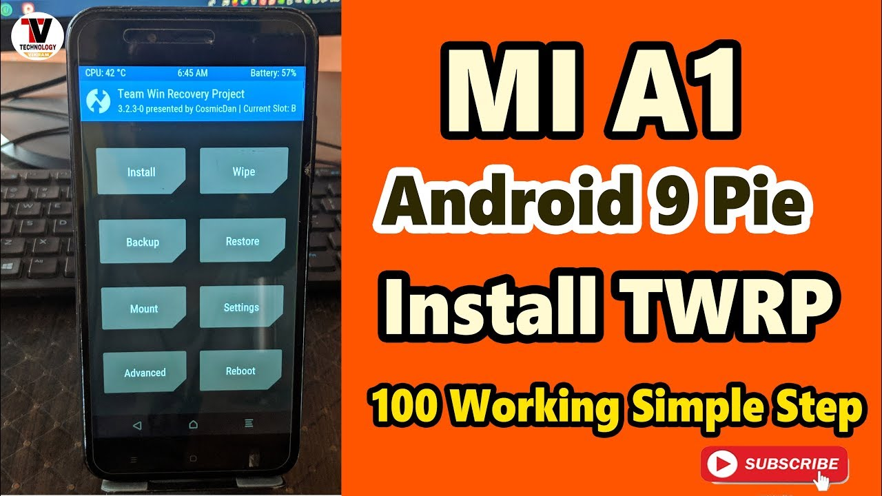 Mi A1 Android Pie 9 0 TWRP Recovery Install 100% Working After March 2019  Update
