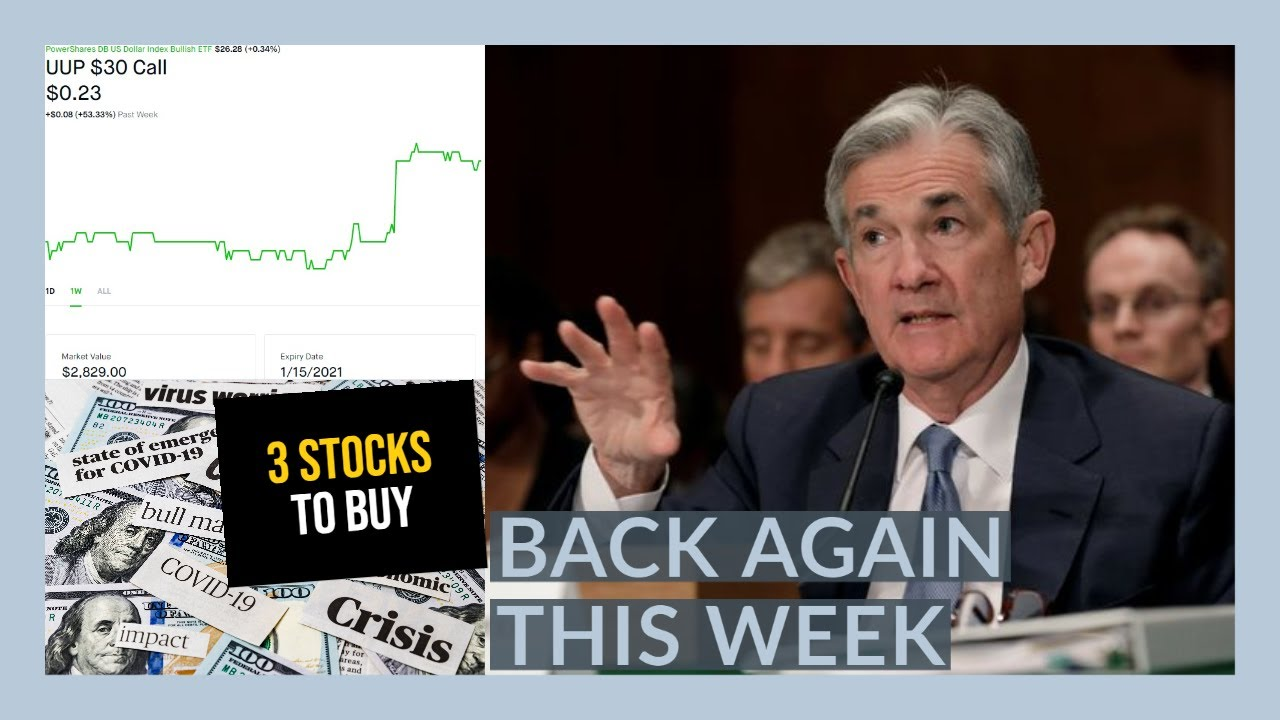 THE STOCK MARKET IS GOING TO GO CRAZY THIS WEEK JEROME POWELL AGAIN - My Watchlist - 3 Stocks To BUY