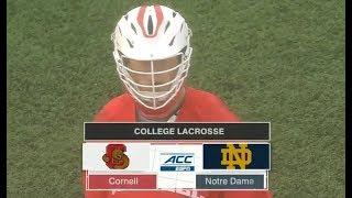 Cornell vs Notre Dame Lacrosse 2019 (April 14) College Lacrosse