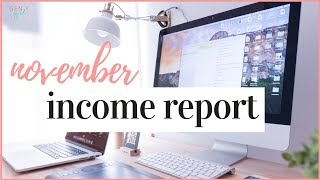 HOW I MAKE MONEY BLOGGING | NOVEMBER INCOME REPORT (REAL NUMBERS)