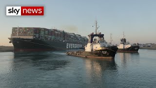 Suez Canal traffic moves after vessel is refloated