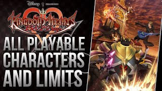 Kingdom Hearts 358/2 Days All Playable Characters and Limits 1080p HD