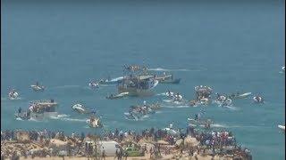 Israeli Military Prevents Palestinian Attempt to Break Gaza's Naval Blockade thumbnail