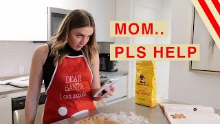 Attempting My Mom's Gingerbread House Recipe LOL thumbnail