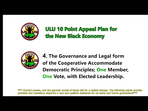 part 4 ULU 10 Point Appeal Plan for the New Black Economy