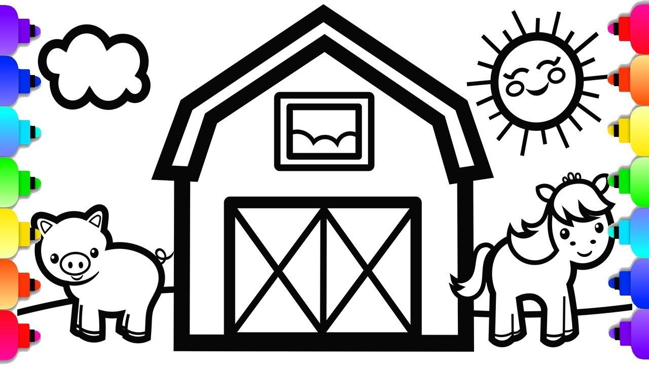 Kids ABC Coloring Pages | Letter E - Free printable farm Alphabet ... | 720x1280