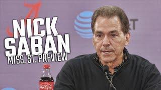 Nick Saban previews Alabama-Mississippi State