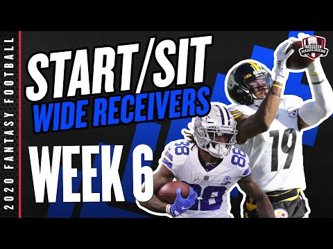2020 Fantasy Football - Week 6 Wide Receivers - Start or Sit? Every Match Up