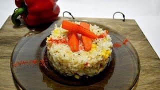 Рассыпчатый рис с кукурузой. Рис с овощами. Как приготовить рис.