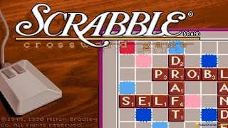 Scrabble: Deluxe Edition gameplay (PC Game, 1990)