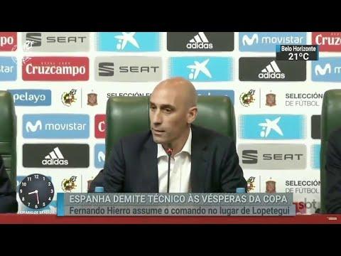 Espanha troca de técnico a dois dias da estreia no Mundial da Rússia | SBT Brasil (13/06/18)