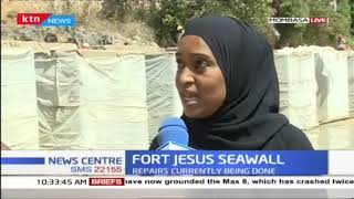 Construction of fort Jesus seawall back on track