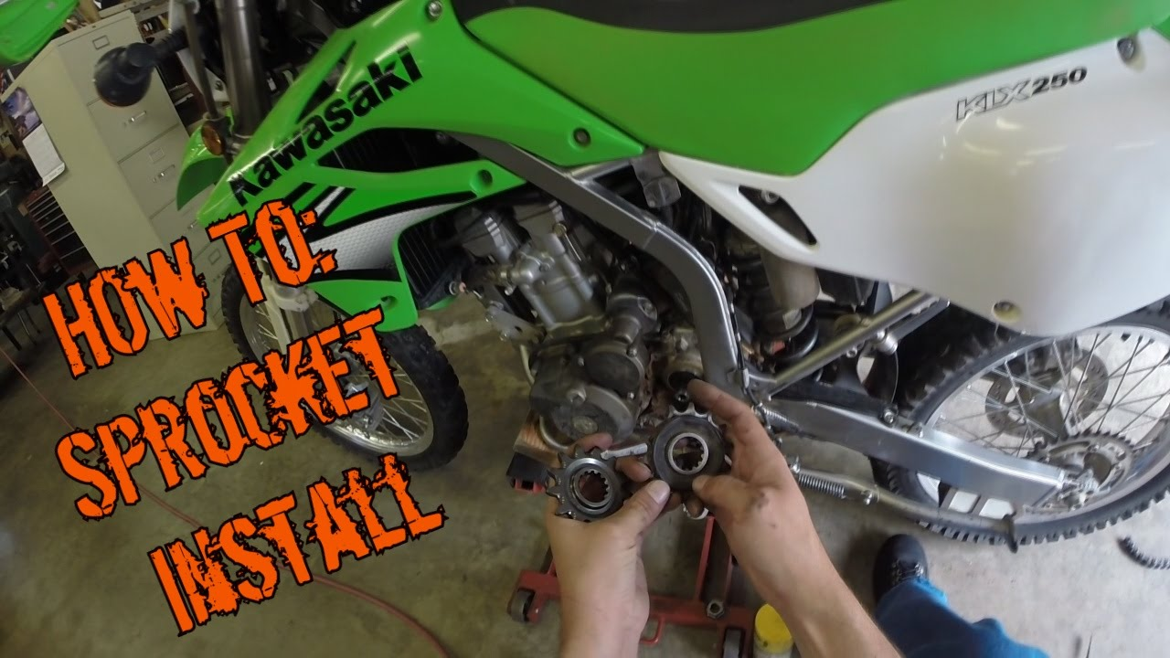 How To Sprocket Removal And Installation Klx250s Youtube 2014 Kawasaki Kx250f Wiring Diagram