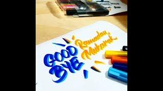 Good Bye Ramadan Mubarak | Brush fonts