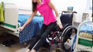 Paraplegic transfer from floor to wheelchair