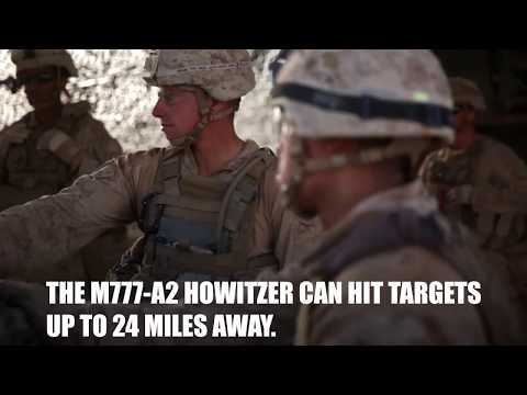 Battle For Iraq/Syria: Marines fire M777-A2 Howitzers At ISIS Fighting Positions.