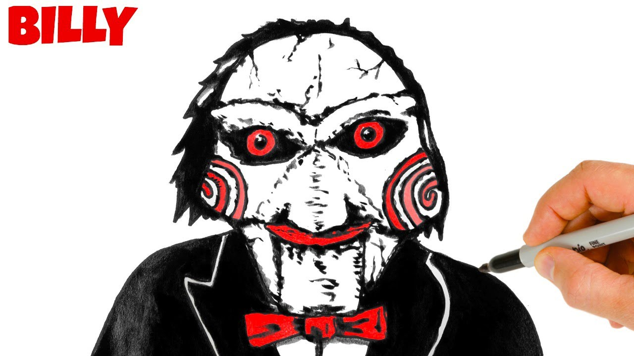 How to Draw Billy the Puppet Saw   Ink Drawing