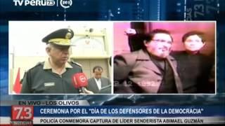 Policía conmemora captura de líder senderista Abimael Guzmán