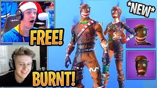 Streamers React to *BURNT* Merry Marauder and Ginger Gunner Skins! - Fortnite Best and Funny Moments