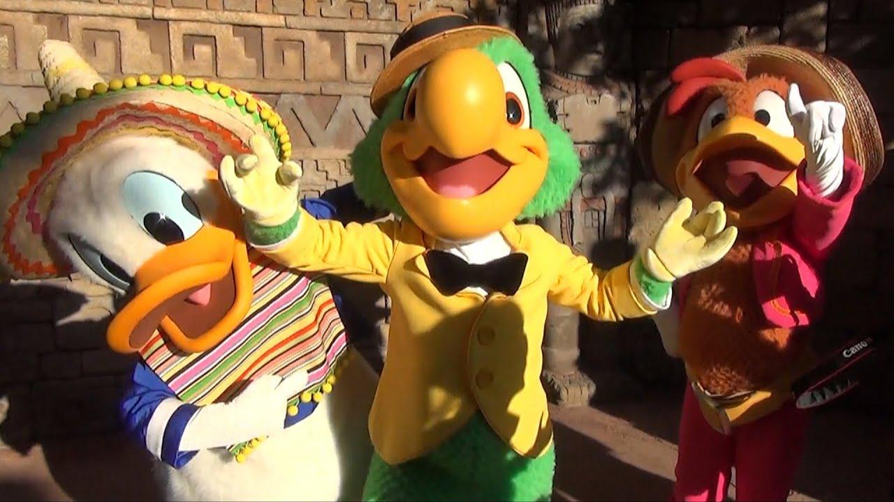 Three Caballeros Panchito Jose Carioca And El Pato Donald Meet For