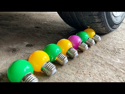 Crushing Crunchy & Soft Things by Car! - Light Bulb, Coca Cola, Pop Corn, Water Glove Slow Motion
