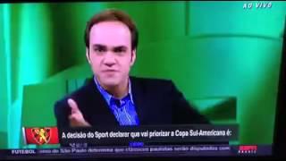 Reporter José Trajano da ESPN Humilhando o Sport Ao Vivo